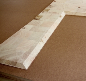 Balsa wood floor core detail