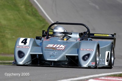Juno SS3 racing at Brands Hatch (spot our logo?)